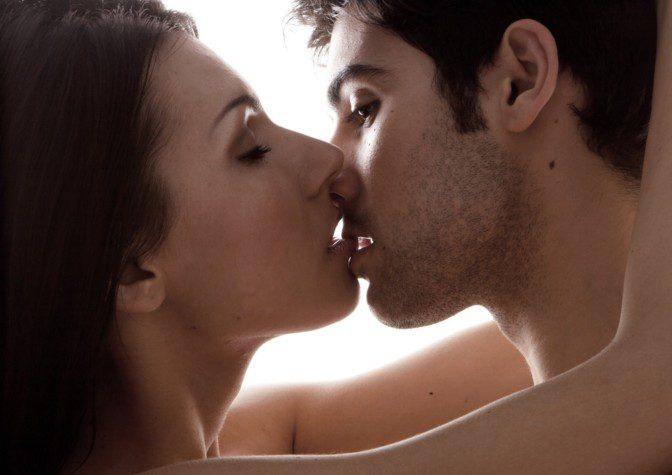 Dominant submissive kissing